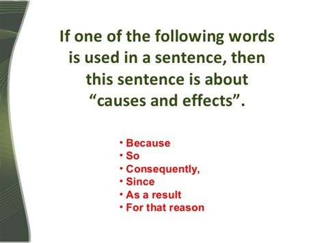 Cause And Effect Relationships (in English Grammar
