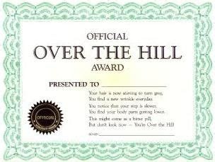 the hill birthday card template joke certificate official the hill award