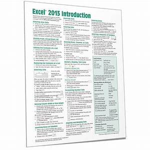 Excel 2013 Quick Reference Guide Card Cheat Sheet