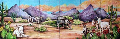 animal ceramic tile murals
