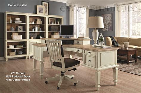 antique white desk with hutch cottonwood farmhouse antique white 72 quot curve half pedestal