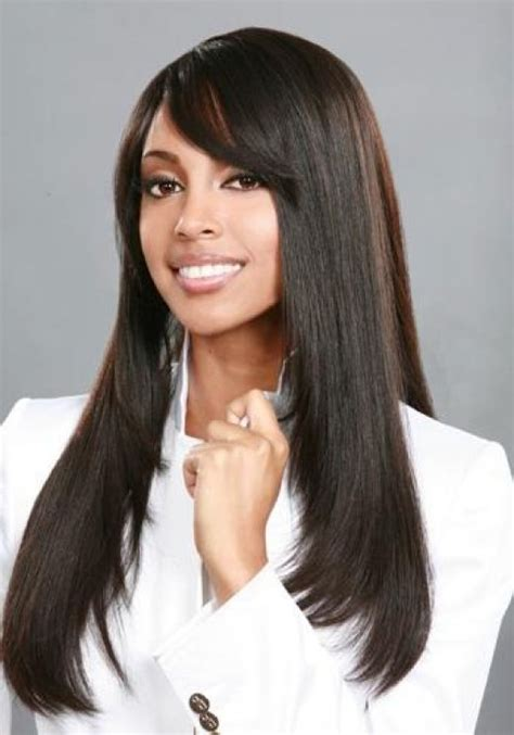 Hairstyles For Hair Black by Black Weave Hairstyles With Bangs