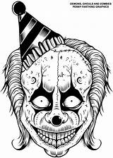 Coloring Pages Demons Ghouls Fiend Zombies Demon Skull Adult Horror Tattoo Friendly Books Zombie Colouring Skulls Weed Drawings Clown Ghoul sketch template