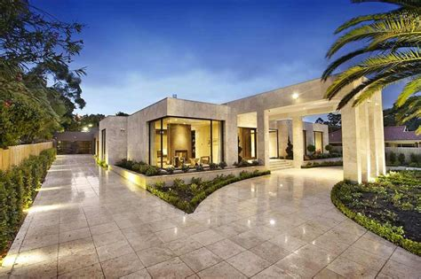 luxury patio home plans luxury melbourne home with pillared entry and interior