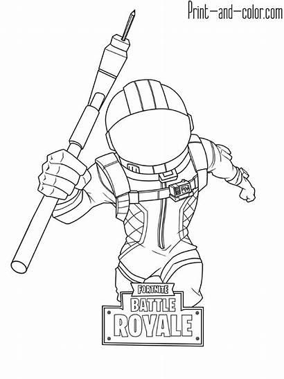 Fortnite Coloring Pages Battle Royale Voyager Dark