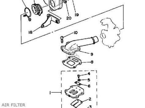 yamaha pw50s 1986 1987 parts list partsmanual partsfiche