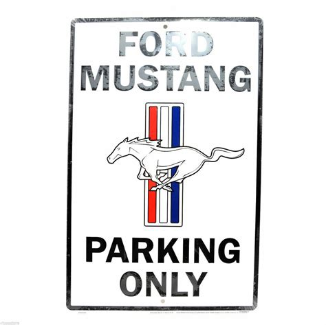 free auto repair manuals 2011 ford mustang parking system ford mustang large 12 x 18 automotive car garage man cave parking sign free ship ebay
