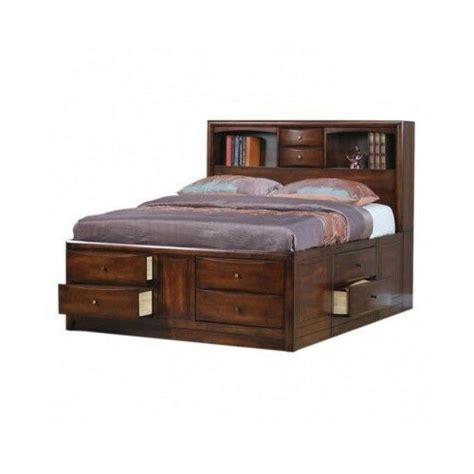 Bookcase Headboard With Drawers by King Size Storage Bed Bookcase Headboard Drawers