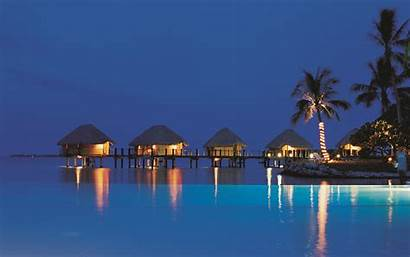 Tropical Resorts Beaches Tahiti Scenic Oceans Buildings