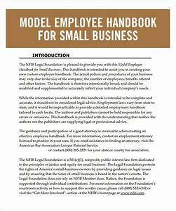 employee handbook template 6 free pdf doc download With employee handbook template for small business