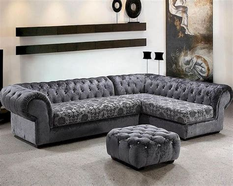 Contemporary Microfiber Sectional Sofa by Microfiber Contemporary Sectional Sofa Set 44l0669