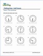 Math Worksheets Grade 1 Davezan Math Worksheets For Grade 1 Activity Shelter Telling Time Worksheets O 39 Clock And Half Past Math Worksheets For Grade 1 Activity Shelter
