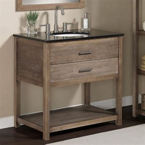 elements   granite top single sink bathroom vanity