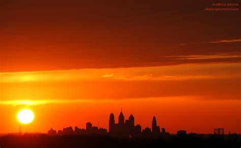 Sunset Over the Philadelphia Skyline - Matthew Johnson ...