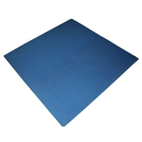 polytuf 50 x 50cm solid blue foam mats 4 pack bunnings