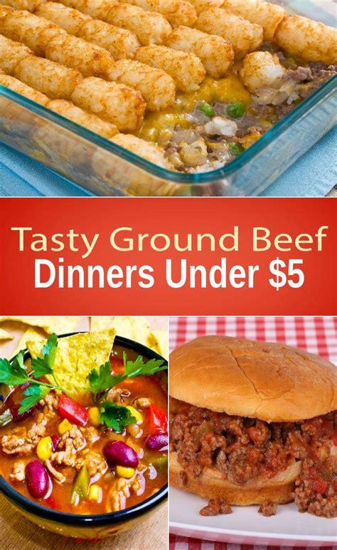 tasty ground beef dinners     gosh