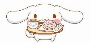 gif cute kawaii queue sanrio op pixel cinnamoroll sugarpussy •