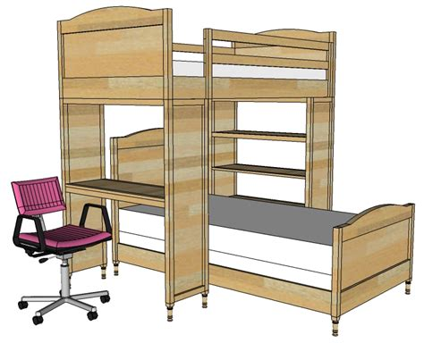 Woodwork Bunk Bed Plans With Bookcase Pdf Plans