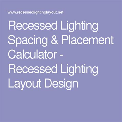 Led Light Room Calculator by Recessed Lighting Spacing Placement Calculator