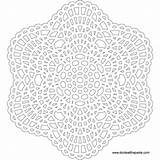 Mandala Crochet Lace Pattern Coloring Template Printable Mandalas Flower Transparent Patterns Printables Inspired Redux Cool Lineart Embroidery Donteatthepaste Crafts Doily sketch template