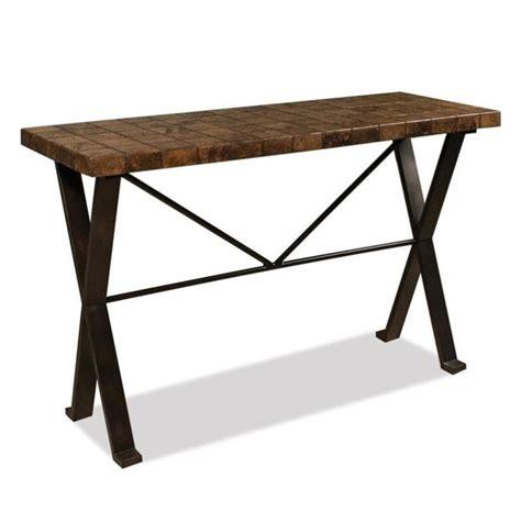 riverside bolero top sofa table in walnut travertine