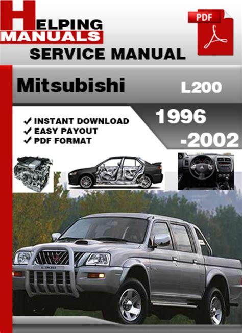 free online auto service manuals 1996 mitsubishi truck windshield wipe control mitsubishi l200 1996 2002 service repair manual download tradebit