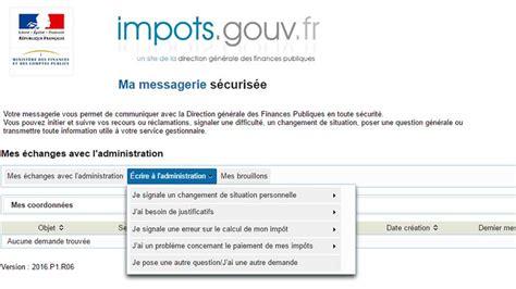 messagerie interieur gouv fr une messagerie s 233 curis 233 e sur impots gouv pour dialoguer avec le fisc