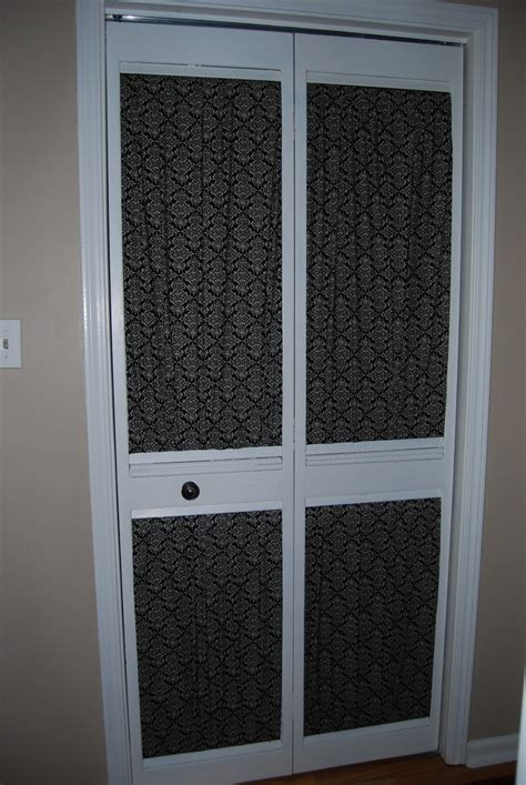 give an louvered closet door a makeover with some