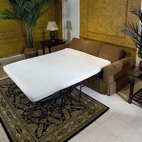 memory foam sofa cover innerspace 4 5 in replacement memory foam sofa mattress