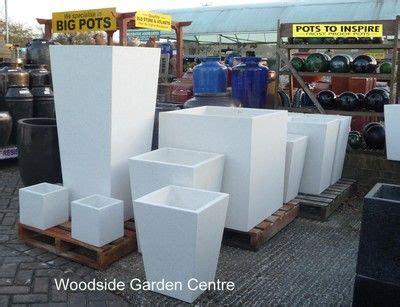 Big White Planters by Large White Terrazzo Square Taper Pot Planters