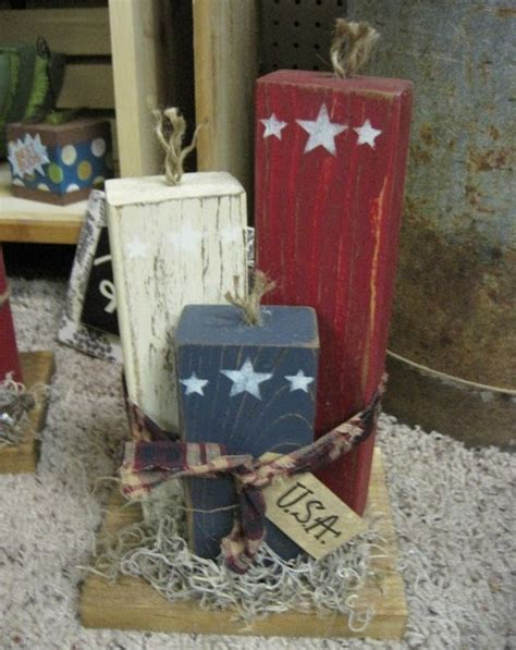 craft  images july crafts wood block crafts