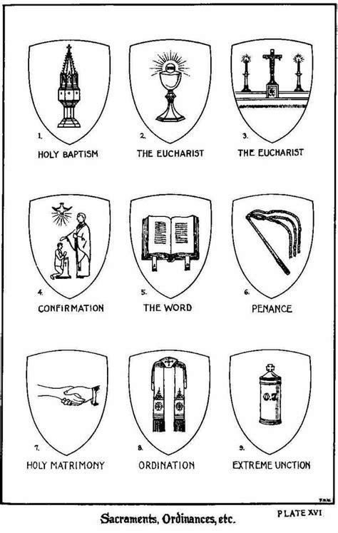 Catholic Sacraments Coloring Sheets Pages