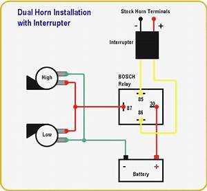 Wiring Diagram Of Motorcycle Horn With Relay