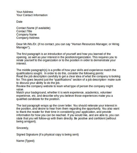 How To Write A Professional Cover Letter For Resume by Sle Professional Cover Letter 8 Documents In Pdf Word