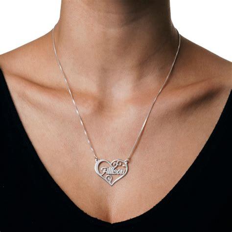 collier coeur personnalis 233 avec pr 233 nom moncollierprenom