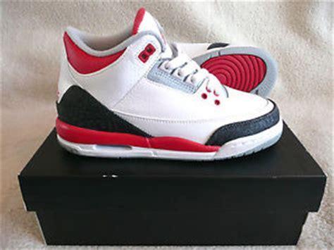 Nike Air Jordan 3 Retro (GS) White Fire Red Women Boys