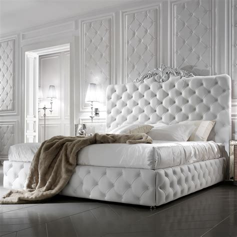Purple Bedroom Rugs by Exclusive Luxury Italian White Leather Bed Juliettes