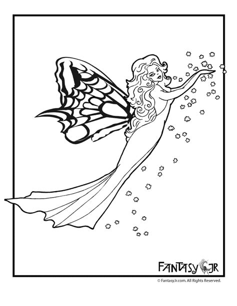 butterfly fairy coloring page  woo jr kids activities
