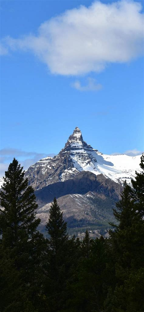 Index Peak Yellowstone Wallpaper 1080x2340