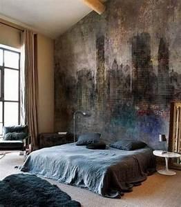 Bedroom wall murals in aesthetic designs rilane