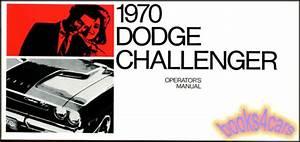 Challenger 1970 Dodge Owners Manual Handbook Operators
