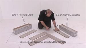 Pose Parquet Baton Rompu : pose de sol alsafloor en b ton rompu du grand art youtube ~ Zukunftsfamilie.com Idées de Décoration