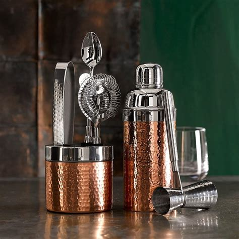 copper hammered cocktail shaker williams sonoma au
