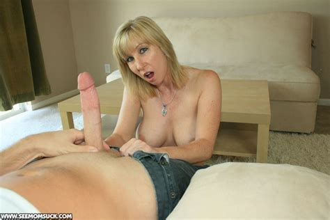 Lascivious Blonde Milf Jerking And Sucking Off A Big Cock