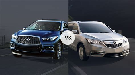 Middletown Acura by Comparison Acura Mdx Vs Infiniti Qx60 Friendly Acura Of