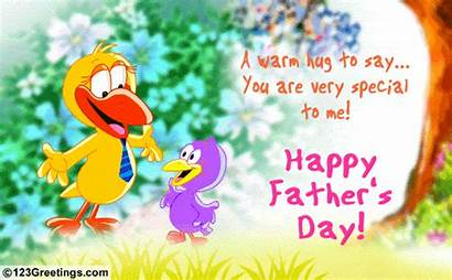 Cards Hug Father Greetings Ecards Warm Fathers