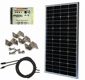 Windynation Complete Monocrystalline 100 Watt Solar Panel