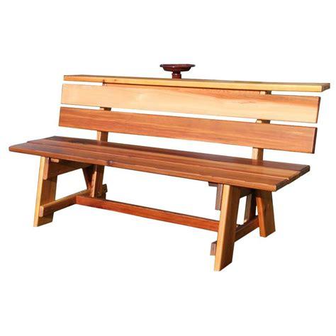 bench home depot parkland heritage kokomo wood inlay patio park bench