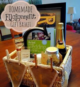 Homemade Engagement Gift Basket Peanut Butter Fingers