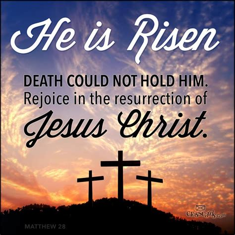 And whoeve lives and believes me will never die. He is Risen!